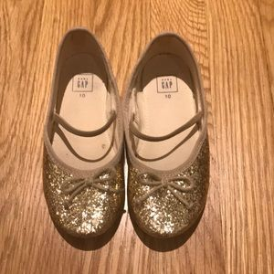 GAP Gold sparkle Mary Janes